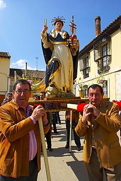 Procession, patronage festival for St.Telmo, Fromista, Castilla Leon, Spain