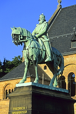 Friedrich I, Barbarossa, Kaiserpfalz Imperial Palace, Goslar, Harz Mountains, Lower Saxony, northern Germany, UNESCO, World Heritage Site