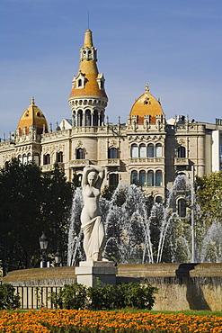 Placa Catalunya, Ciutat Vella, Eixample, Barcelona, Spain