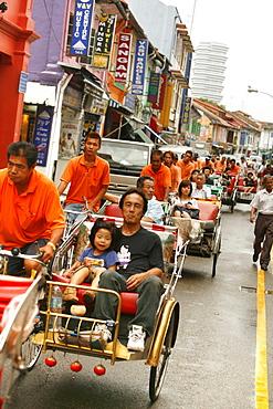 Rickshaw through Little India, Singapore