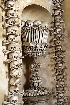 Church of our lady, bones, Sedlec, Kutna Hora, Czech Republic