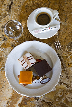Gerbeaud Variation Cakes at Gerbeaud Cafe, Pest, Budapest, Hungary