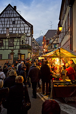Christmas market and historic quarter, Ribeauville, Alsace, France