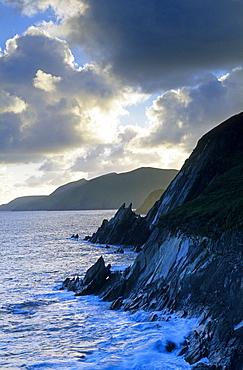 Dingle peninsula, coastal landscape near Slea Head, County Kerry, Ireland, Europe