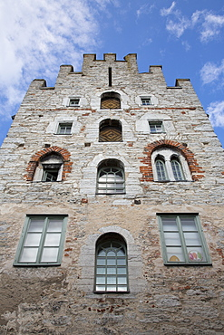 Fascade of the old pharmacy building, Visby, Gotland, Sweden, Europe