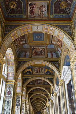 Raphael Loggia inside The Hermitage museum complex, St. Petersburg, Russia, Europe
