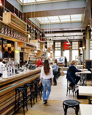 Bar in the restaurant of Hotel New York, Kop van Zuid, Rotterdam, Netherlands