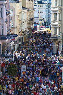 Crowd at a street festival at downtown, Linz, Upper Austria, Austria
