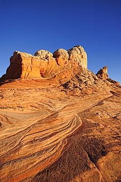 Colourful spire of sandstone, Paria Canyon, Vermilion Cliffs National Monument, Arizona, Southwest, USA, America