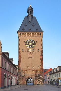 View of city gate Altportel, Speyer, Rhineland-Palatinate, Germany, Europe