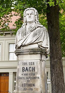 Johann Sebastian Bach Monument, Koethen, Saxony-Anhalt, Germany, Europe
