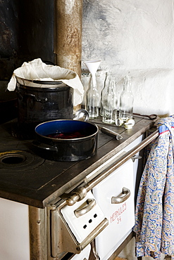 Preserving pan and preserving bottles for making juice and syrup, Homemade