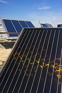 Different solar panels, Freiburg im Breisgau, Black Forest, Baden-Wuerttemberg, Germany, Europe