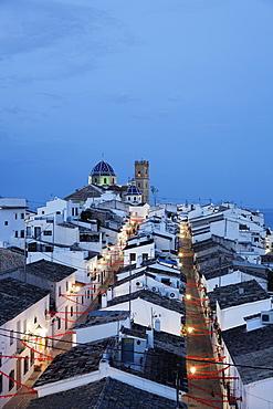 Nuestra Senora del Consuelo church, old town, Altea, Alicante, Spain
