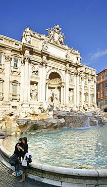 Trevi Fountain, Fontana di Trevi, Rome, UNESCO World Heritage Site Rome, Latium, Lazio, Italy