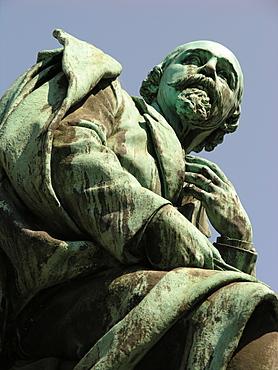 Statue of Emanuel Geibel, Hanseatic City of Luebeck, Schleswig Holstein, Germany