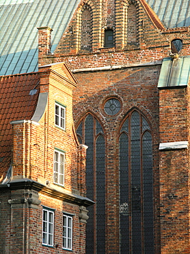 Old part of town, Hanseatic City of Luebeck, Schleswig Holstein, Germany