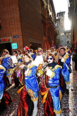 Rabaden Carnival in the old town of Bellinzona, Ticino, Switzerland