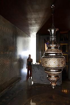 Arabian lamp at the entrance to the spa area, Hotel Areias do Seixo, Povoa de Penafirme, A-dos-Cunhados, Costa de Prata, Portugal