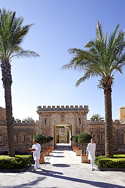 Gateway is main entrance to Hotel Cap Rocat, Ctra. d'enderrocat, s/n, 07609 Cala Blava, Mallorca, Balearic Islands, Spain
