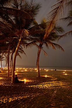 Beach bars at Cua Dai beach, Hoi An, Quant Nam Province, Vietnam