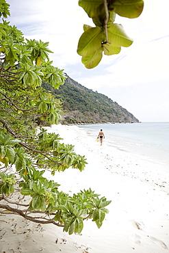 Man at Cat Lon Beach, Bai Canh Island, Con Dao National Park, Ba Ria-Vung Tau Province, Vietnam