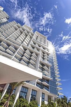 Luxury resort W Hotel of Starwood Hotel chain, Collins Avenue, Art Deco District, South Beach, Miami, Florida, USA