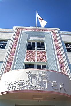 Art Deco hotel The Webster, Collins Avenue, Art Deco District, South Beach, Miami, Florida, USA