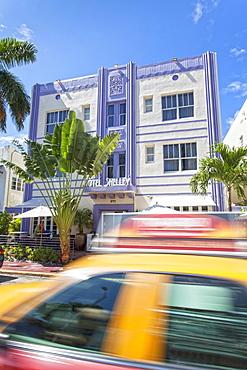 Art Deco hotel Shelley, Collins Avenue, Art Deco District, South Beach, Miami, Florida, USA