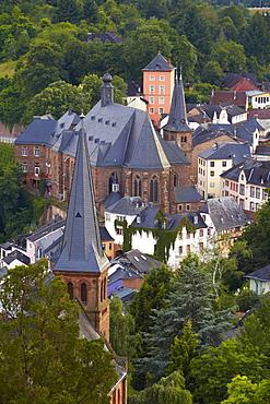 Old town of Saarburg on river Saar, Rhineland-Palatinate, Germany, Europe