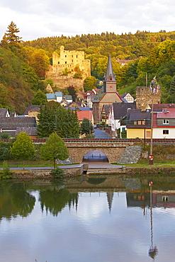 Balduinstein castle, Balduinstein, Lahn, Westerwald, Rhineland-Palatinate, Germany, Europe