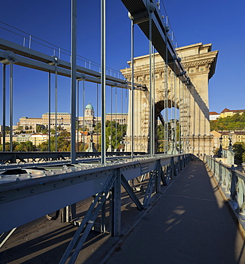 The Chain Bridge, Buda Castle, Budapest, Hungary