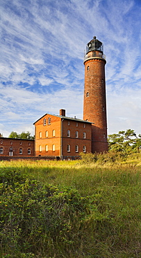Lighthouse at Darsser Ort, Darss, Nationalpark Vorpommersche Boddenlandschaft, Mecklenburg-Western Pomerania, Germany