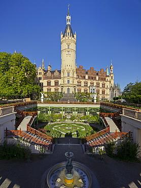 Schwerin castle, Schlossinsel, Schwerin, Mecklenburg-Vorpommern, Germany