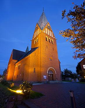 Church of St. Nicholas, Westerland, Sylt, Schleswig-Holstein, Germany