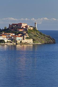 Forte Stella, Portoferraio with bay, Elba Island, Tuscany, Italy