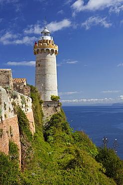 Lighthouse at Fort Stella, Portoferraio, Elba Island, Tuscany, Italy