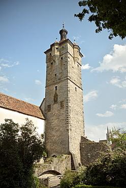 Klingen tower, entrance to the old town of Rothenburg ob der Tauber, Romantic Road, Franconia, Bavaria, Germany