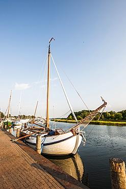 Schaprode harbour, Island of Ruegen, Mecklenburg-Western Pomerania, Germany