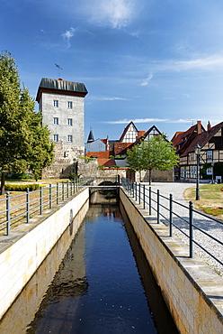 Muehlgraben, Word Lane, Quedlinburg, Saxony-Anhalt, Germany