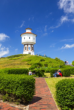 Water tower on Langeoog Island, North Sea, East Frisian Islands, East Frisia, Lower Saxony, Germany, Europe