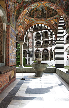 Fountain, Rila Monastery, Blagoevgrad, Bulgaria