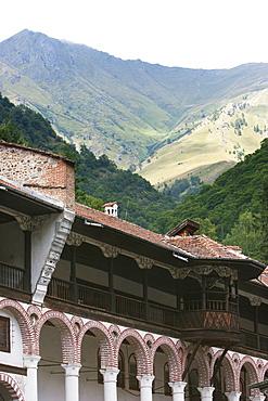 Residential quarters, Rila Monastery, Blagoevgrad, Bulgaria