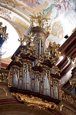 Organ of the Abbey Church of Stift Melk Benedictine Monastery, Lower Austria, Austria
