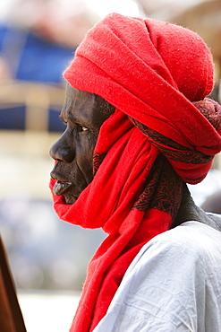 Man with turban, Monday Market, Djenne, Mali