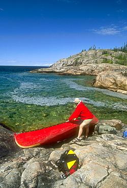 Lake Superior canoe trip, Pukaskwa National Park, Marathon, Ontario