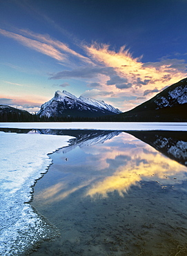 Second Vermilion Lake and Mount Rundle, Banff National Park, Alberta.
