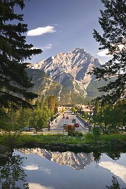 Cascade Gardens and Banff Ave., Banff National Park, Alberta.