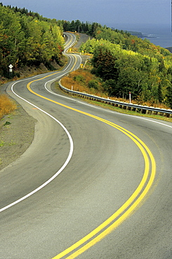 Curved Roadway, Gaspe Peninsula Quebec.