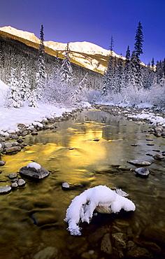 Maligne River and the Colin Range, Jasper National Park, Alberta, Canada